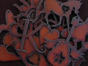 rustic iron pendant
