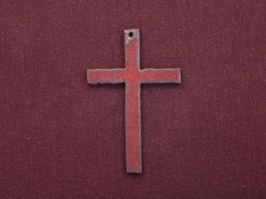 Rusted iron plain cross pendant aloadofball Images