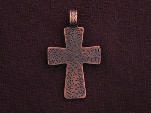 Pendant antique copper colored pattern cross aloadofball Images
